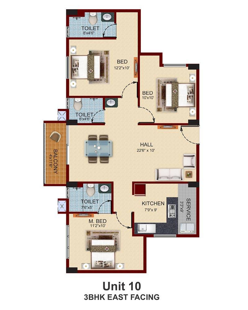 Artnlight Madras Terrace House Chennai: Apartments With Private Terrace Garden In Chennai Near
