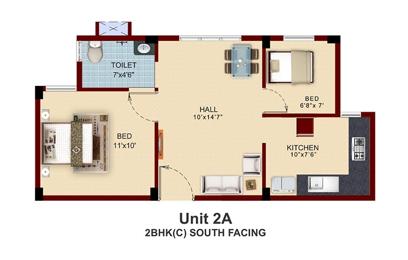 South Facing House Floor Plans: Apartments With Private Terrace Garden In Chennai Near